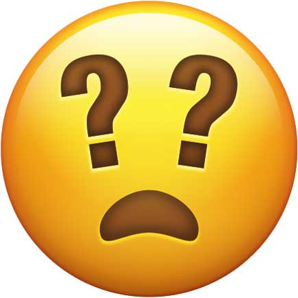 Frowning Face with Question Marks as Eyes