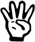 Image result for emoji with four fingers up