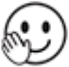 Smiling Face with Hand Raised
