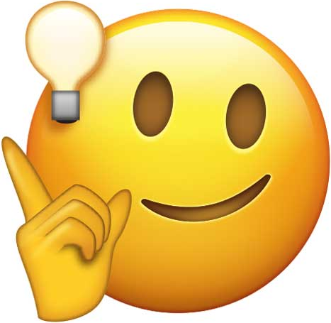 Smiling Face with Hand Snapping and Lightbulb