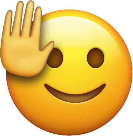 Smiling Face with Raised Hand